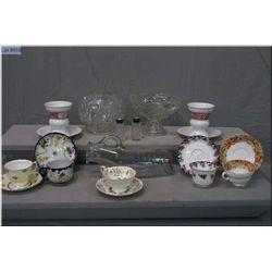A selection of vintage cups and saucers including Royal Paragon, Royal Doulton, Colclough etc. plus