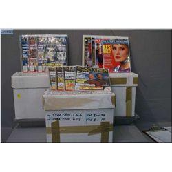 Collection of Star Trek Voyager magazines, Star Trek Official Club magazines, Star Trek The Next Gen