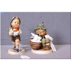 "Two Goebel Hummel figurines including ""School Boy"" and ""Playmates"""