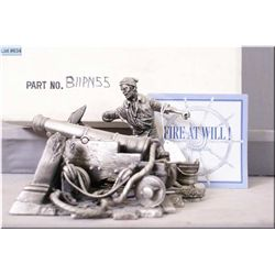 """Franklin Mint pewter figure """"Fire At Will"""""""
