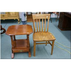 Two tier single drawer Villas maple occasional table
