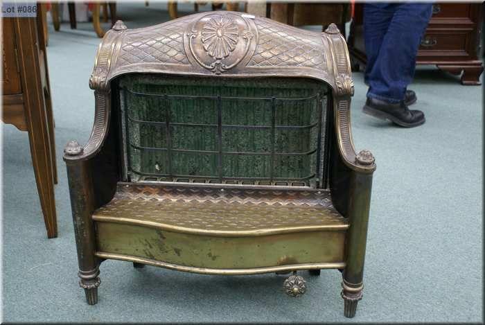 Fine Vintage Brass Gas Fireplace Insert Made By Humphrey Radiant Download Free Architecture Designs Pushbritishbridgeorg