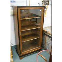An American deco single glazed door display cabinet