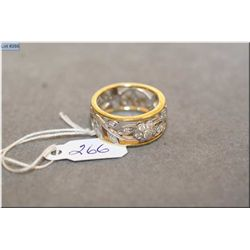 Lady's 18kt white and yellow gold diamond ring set with 0.35ct of brilliant white diamonds