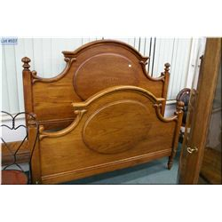 """A quality modern 62"""" oak bed with headboard, footboard and rails"""
