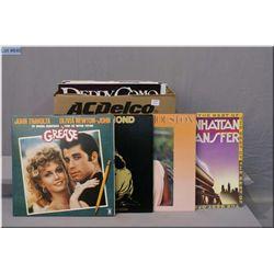 Box of LPs including Dan Fogelberg, Whitney Huston, Neil Diamond, Soundtrack to Grease, Manhattan Tr