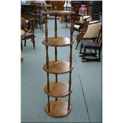 Five tier round modern whatnot shelf
