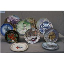 Selection of collector plates including Norman Rockwell, animals, etc