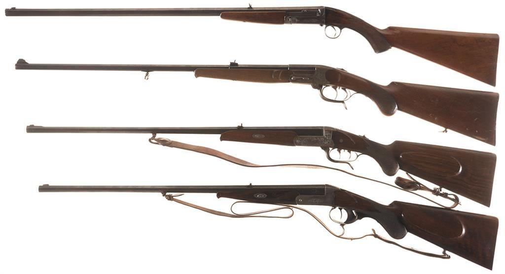 Four Breech Loading Single Shot Rifles -A) C S L  London Army & Navy Rifle