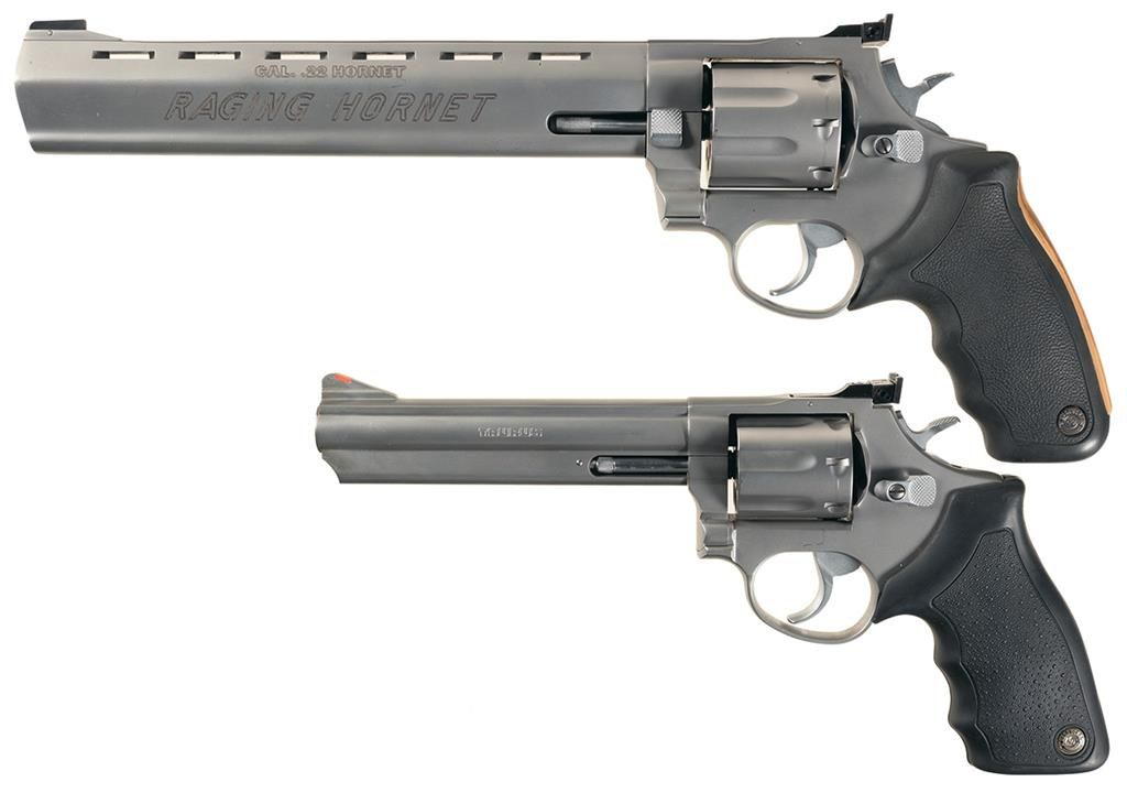Two Taurus Double Action Revolvers -A) Taurus Model 22H Raging Hornet  Revolver