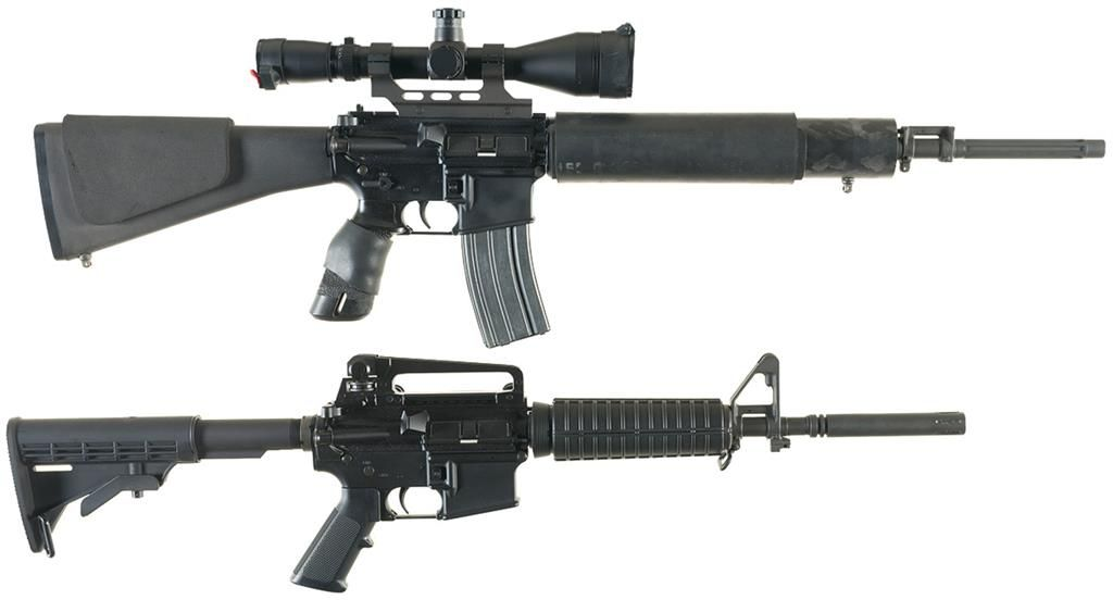 Two AR-15 Style Semi-Automatic Rifles -A) Bushmaster XM15-E2S Rifle with  Scope