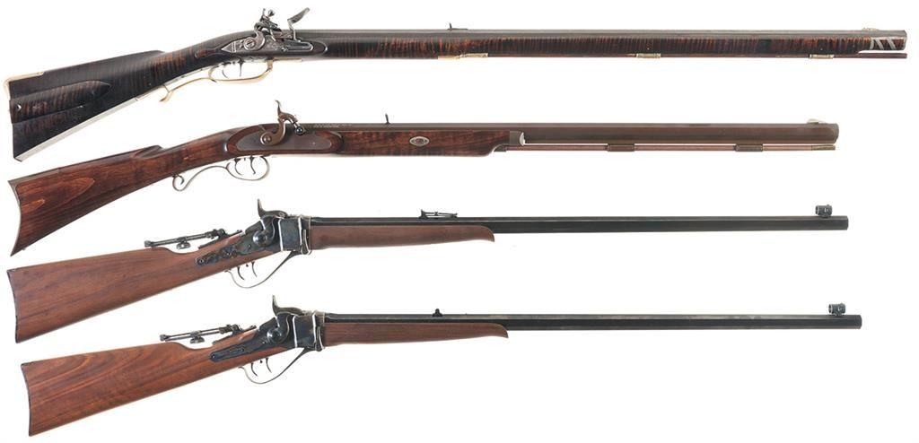 Four Reproduction Rifles -A)