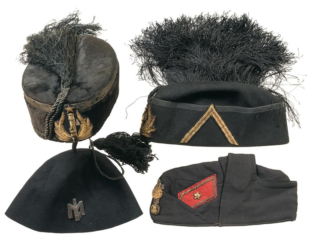 Grouping of Italian Military Style Hats