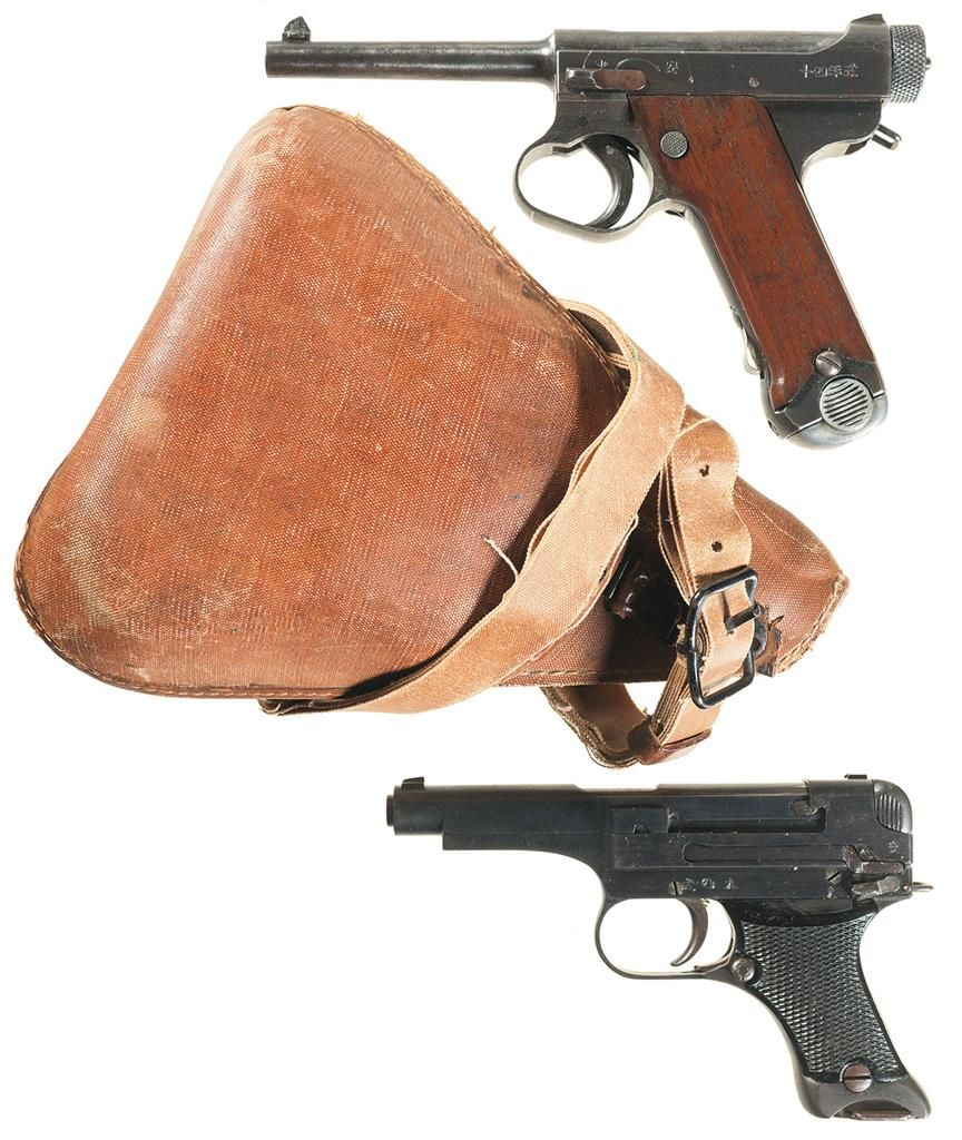 Collector's Lot of Two World War II Japanese Semi-Automatic Pistols -A)  Japanese Type 14 Pistol with