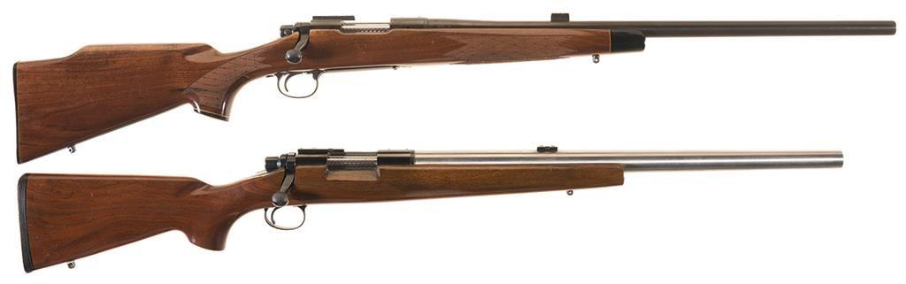 Two Remington Bolt Action Rifles -A) Remington Model 700 Heavy Barrel  Varmint Rifle