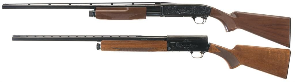 Two Browning Shotguns -A) Browning BPS Field Model 28 Gauge Slide Action  Shotgun
