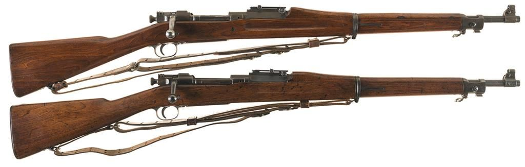 Two U S  1903 Bolt Action Rifles -A) Rock Island Arsenal Model 1903 Rifle