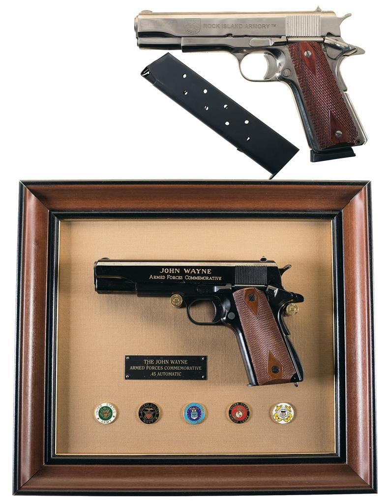 One Semi-Automatic Pistol and One Display Pistol -A) Rock Island Armory  Model 1911 A1 FS Pistol with