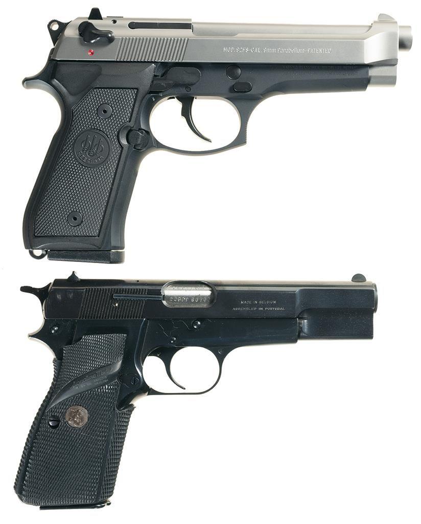 Two Semi-Automatic Pistols -A) Beretta Model 92FS Pistol with Box and  Accessories