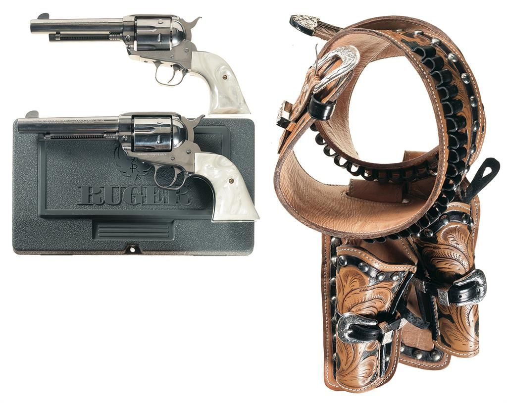 Two Ruger Vaquero Single Action Revolvers -A) Ruger Vaquero Revolver with  Holster Rig