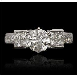 14KT White Gold 1.02ct I-2/H Diamond Ring GB3524