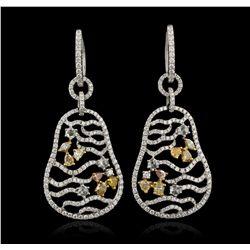 18KT White Gold 1.88ctw Diamond  Earrings FJM3247