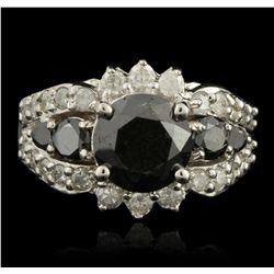 14KT White Gold 3.06ct Black Diamond Ring RM1258