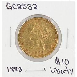 1882 $10  Liberty Head Eagle Gold Coin GC2532