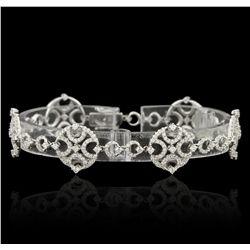 18KT White Gold 2.92ctw Diamond Bracelet FJM3263