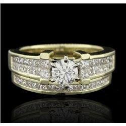 14KT Yellow Gold 1.55ctw Diamond Wedding Set Ring  A5929