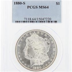 1880-S Morgan Silver Dollar PCGS Graded MS64 SCE1126