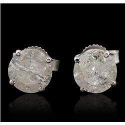 14KT White Gold 2.11ctw Diamond Stud Earrings GB4827