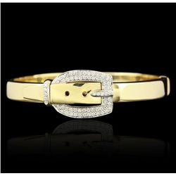 14KT Yellow Gold 0.90ctw Diamond Bracelet GB1847