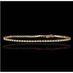 14KT Yellow Gold 1.50ctw Diamond Tennis Bracelet GB1838