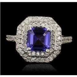 14KT White Gold 1.94ct Tanzanite and Diamond Ring RM1780