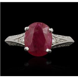 14KT White Gold 2.87ct Ruby and Diamond Ring GB3574