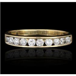 18KT Yellow Gold 0.40ctw Diamond Ring GB2541