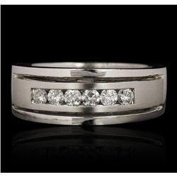 14KT White Gold 0.50ctw Diamond Ring LAJB73