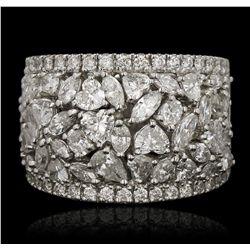 18KT White Gold 0.43ctw Diamond Ring FJM3131