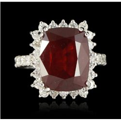 14KT White Gold 11.37ct Ruby and Diamond Ring A5182