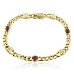 18KT Yellow Gold 1.68ctw Ruby Bracelet JRM346