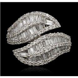 14KT White Gold 1.38ctw Diamond Ring FJM3129