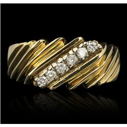 14KT Yellow Gold 0.22ctw Diamond Ring FAA51