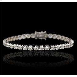 18KT White Gold 4.62ctw Diamond Tennis Bracelet A6754