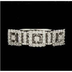 18KT White Gold 0.41ctw Diamond Ring GB1937