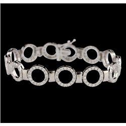14KT White Gold 1.00ctw Diamond Bracelet GB2905