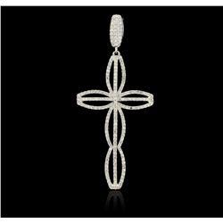 14KT White Gold 0.60ctw Diamond Pendant  FJM3232