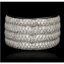 14KT White Gold 1.75ctw Diamond Ring FJM3144