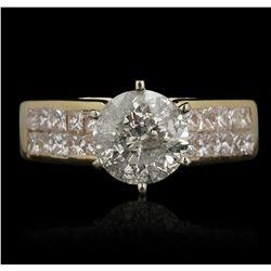 14KT Yellow Gold 1.58ct I-2/I Diamond Ring GB3527
