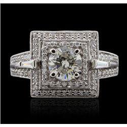 18KT White Gold 1.72ctw Diamond  Ring GB4679